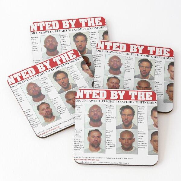 Poster Prison Break FBI Wanted Dessous de verre (lot de 4)