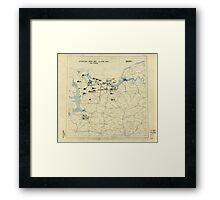 June 6 1944 D-Day World War II Twelfth Army Group Situation Map Framed Print