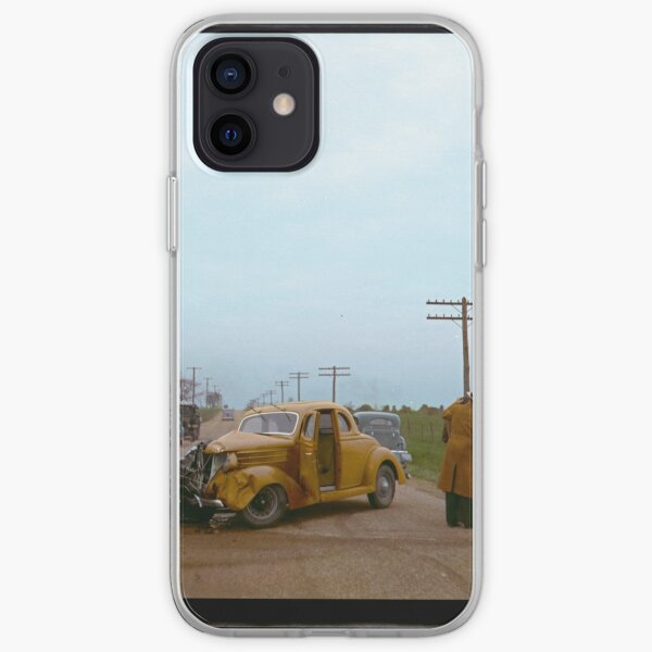 Automobile Accident on the U.S. 40, 1936 iPhone Soft Case