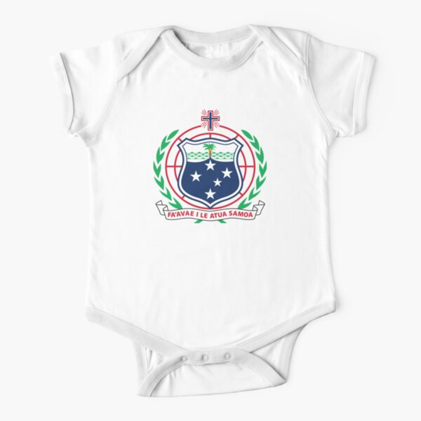 Coat of Arms of Independent State of Samoa Short Sleeve Baby One-Piece