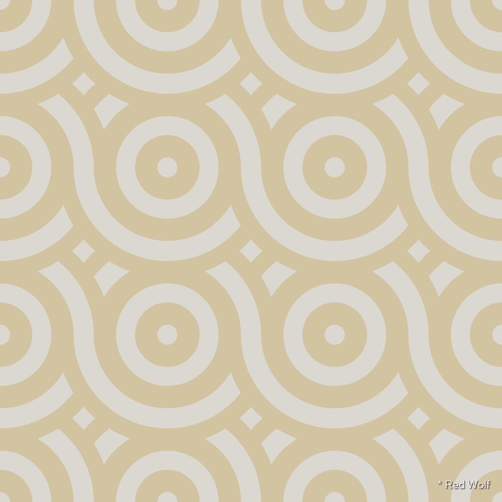 Geometric Pattern: Loop: Sandstone by * Red Wolf