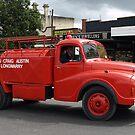 Longwarry Firetruck in Drouin Parade by Bev Pascoe