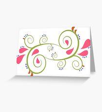Paisley Garden Greeting Card