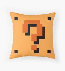 Question Brick Throw Pillow