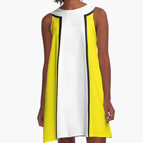 Gelb Mod A-Linien Kleid