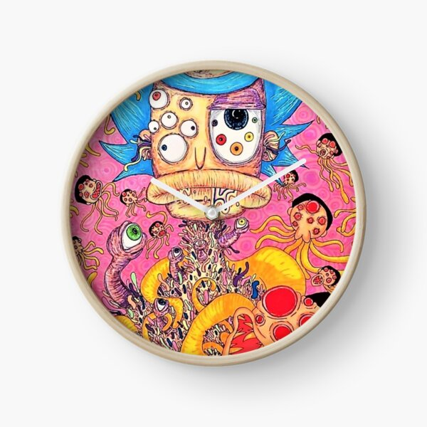 Alien Rick and Morty Clock