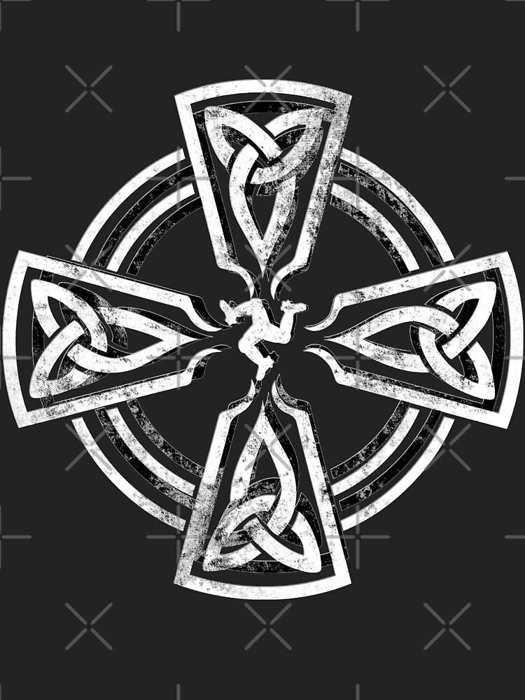 Celtic Cross Manx Cross 3 Legs Isle Of Man Gaelic Traditional Knots by thespottydogg