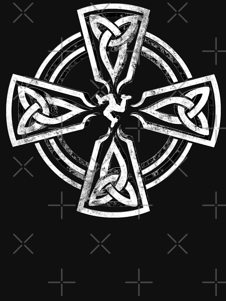 Celtic Cross Manx Cross 3 Legs Isle Of Man Gaelic Traditional Knots by thespottydogg