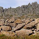 Drystone wall, Castro Laboreiro, Parque Nacional da Peneda-Geres, Portugal by Andrew Jones
