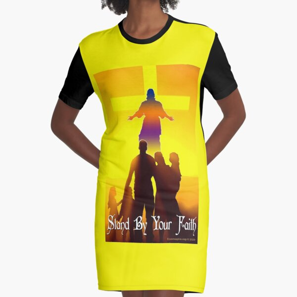 Stand By Your Faith Graphic T-Shirt Dress
