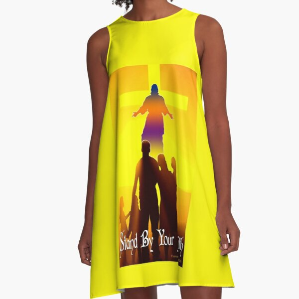 Stand By Your Faith A-Line Dress