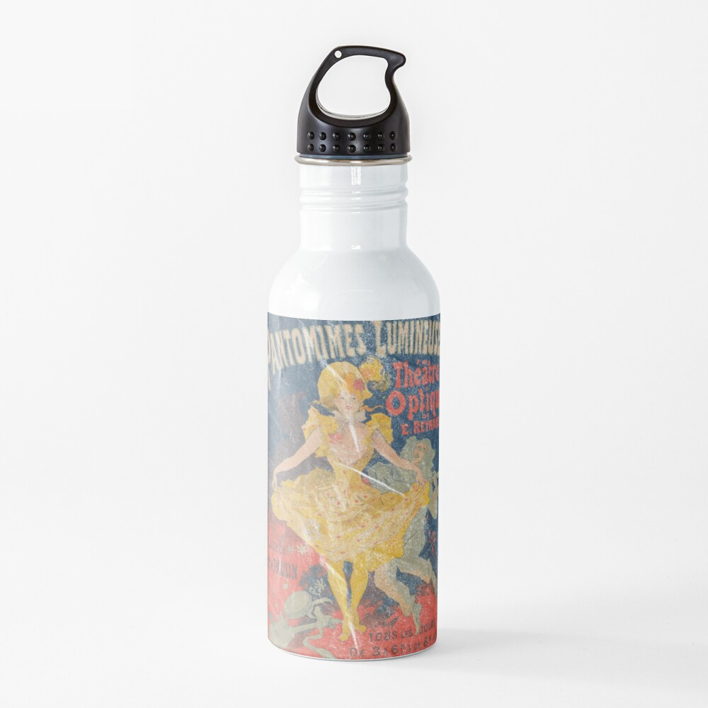 Pantomimes Lumineuses Vintage Poster Water Bottle