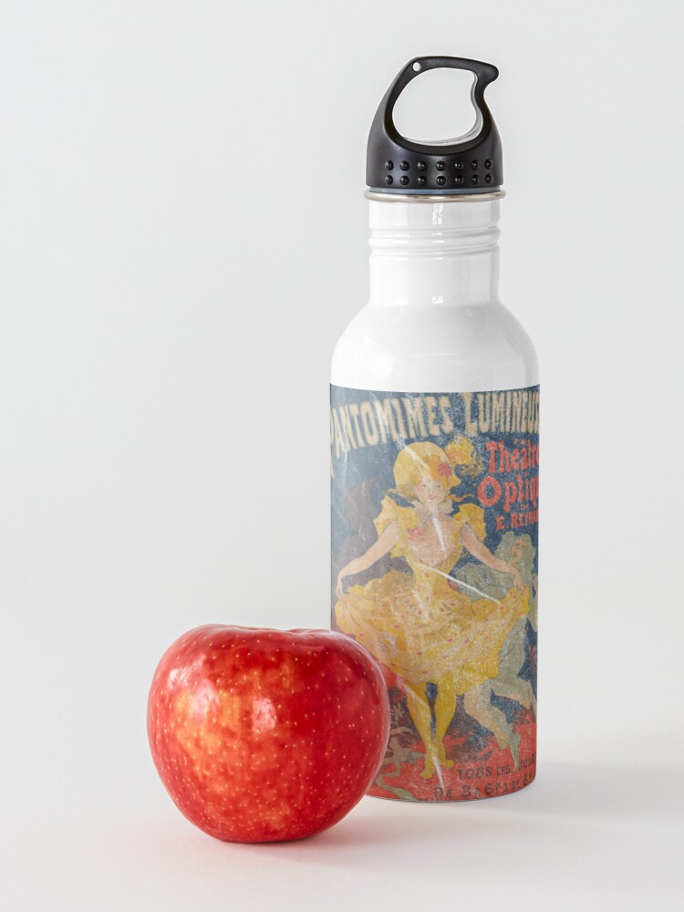 Alternate view of Pantomimes Lumineuses Vintage Poster Water Bottle