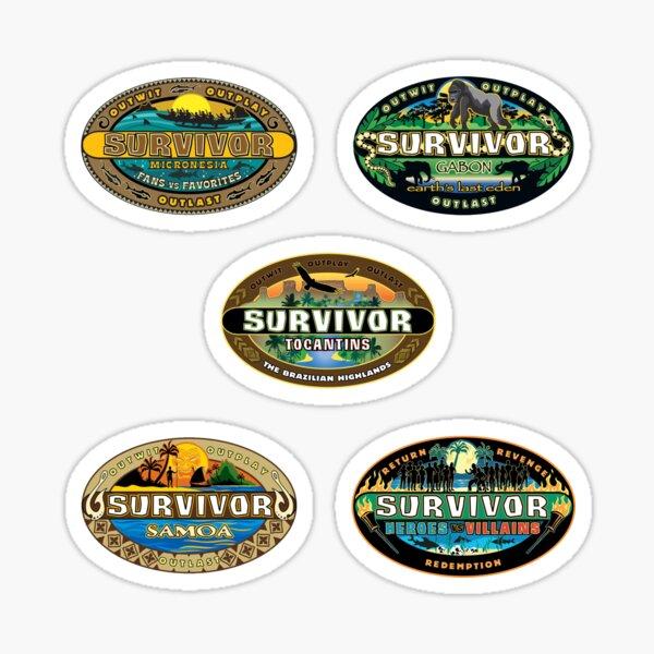 survivor seasons 16-20 Sticker