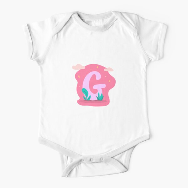 Colourful Letter G Short Sleeve Baby One-Piece