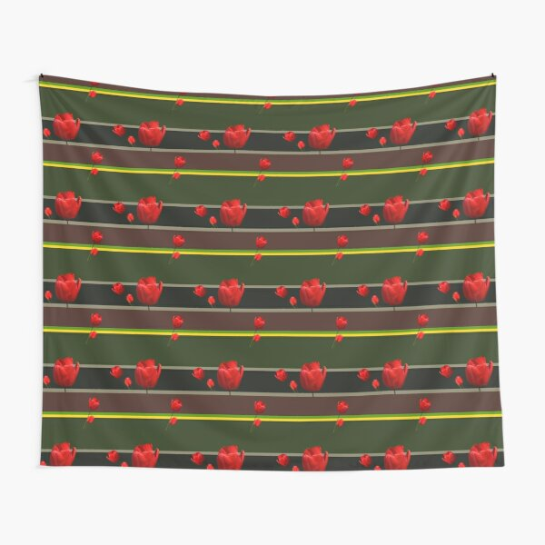 Tulips and stripes Tapestry