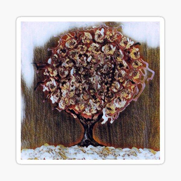 Tree Art 1 designed and created by Janet Watson Art  Sticker