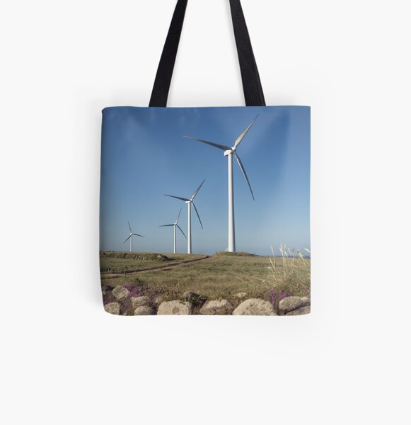 Carnsore Point Wind Farm All Over Print Tote Bag