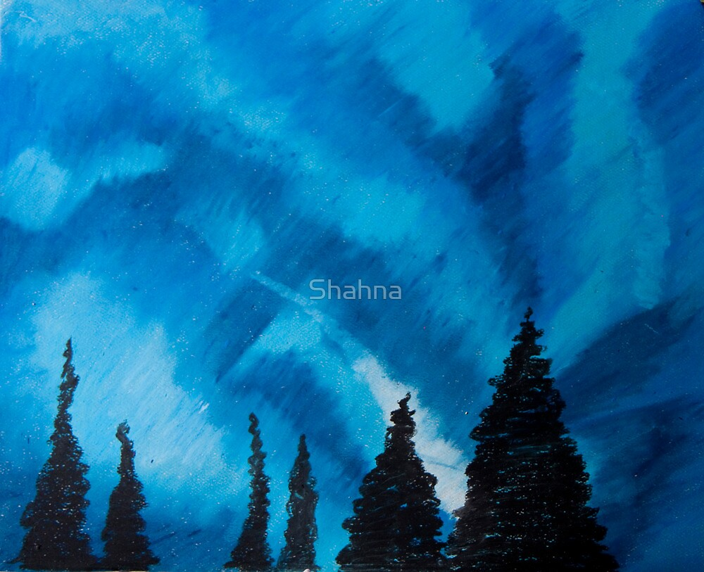 Northern Lights (Blue) by Shahna