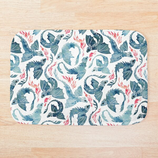 Dragon fire Bath Mat