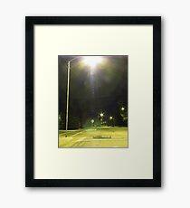 Crosswalk Loitering Framed Print