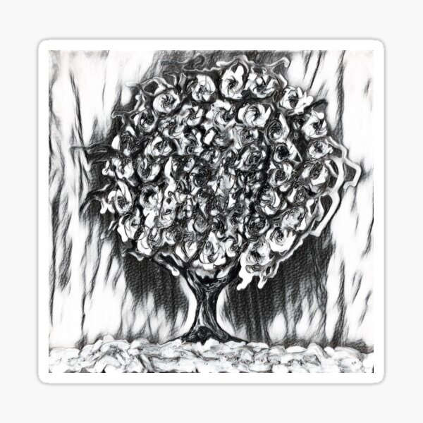 Tree Art 2 designed and created by (c) Janet Watson Art  Sticker