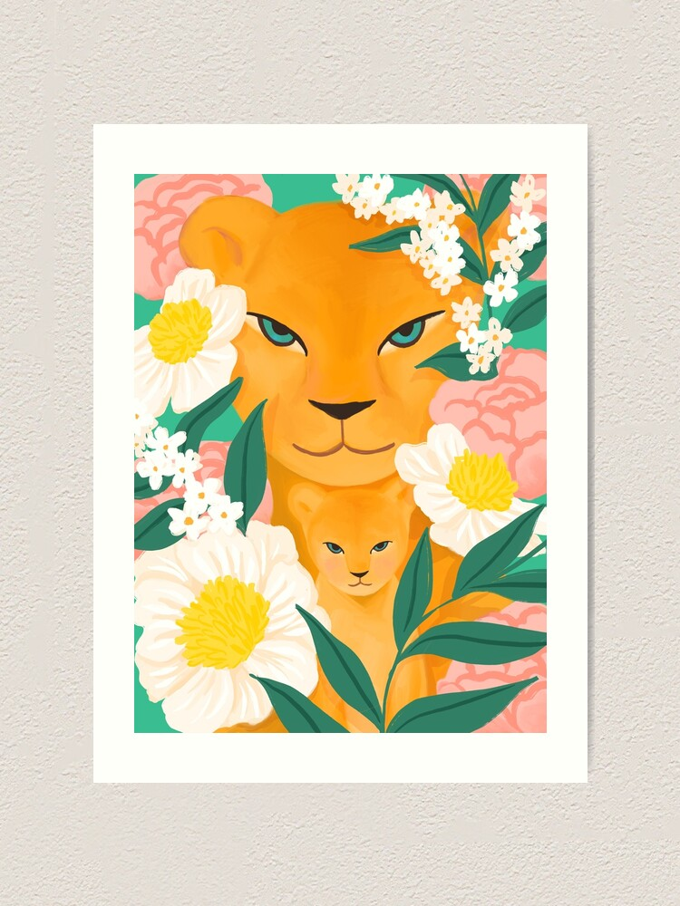 Alternate view of Mother Lion and Cub I Art Print