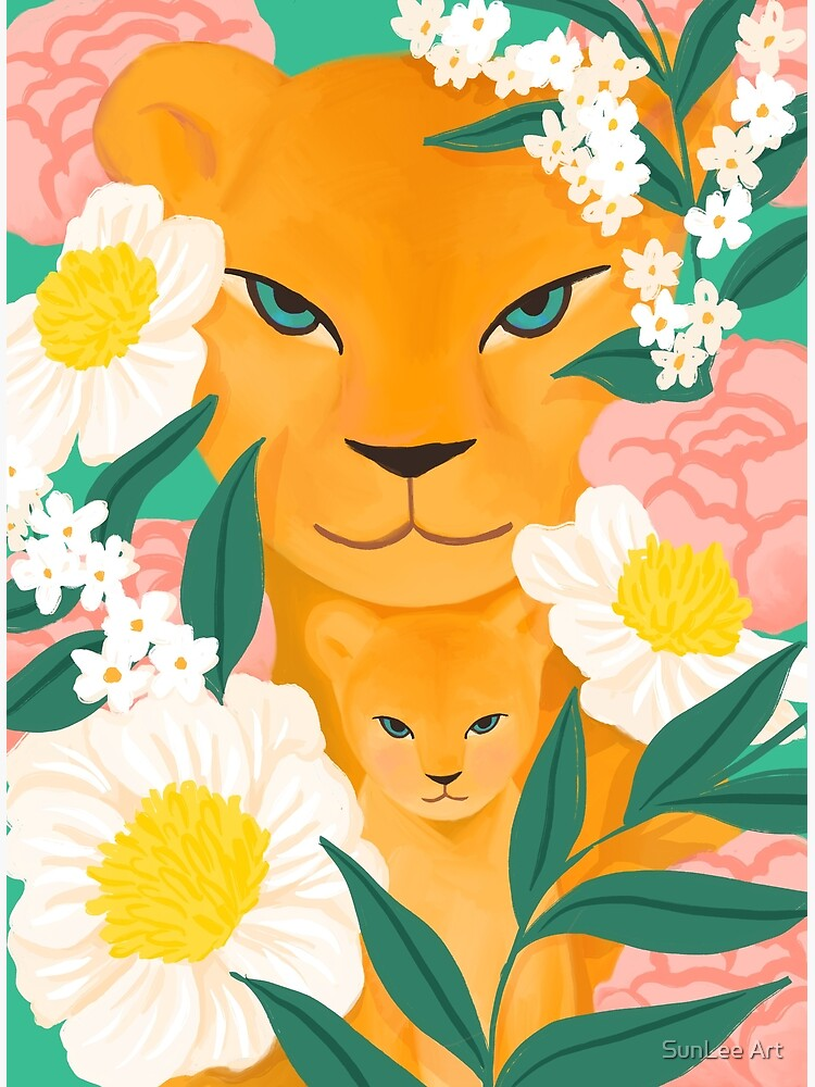 Mother Lion and Cub I by sunleeart