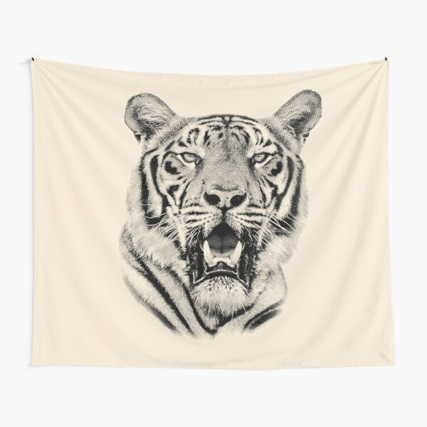 Tiger Portrait of Majestic Male Bengal Tiger Tapestry