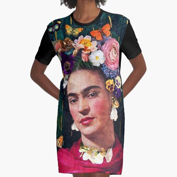 Casual Dress Women Vintage Dress Elegant Dress Party  Dress For Women Frida Kahlo Orange  Long  Sleeve Dress