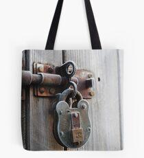padlock.  Tote Bag