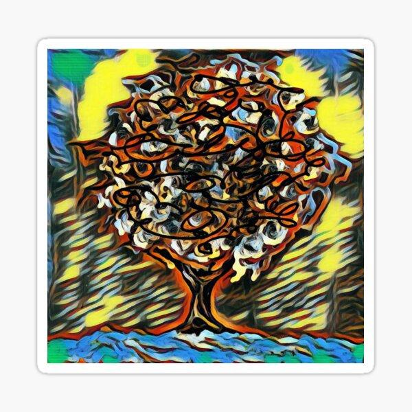 Tree Art 7 designed and created by (c) Janet Watson Art  Sticker