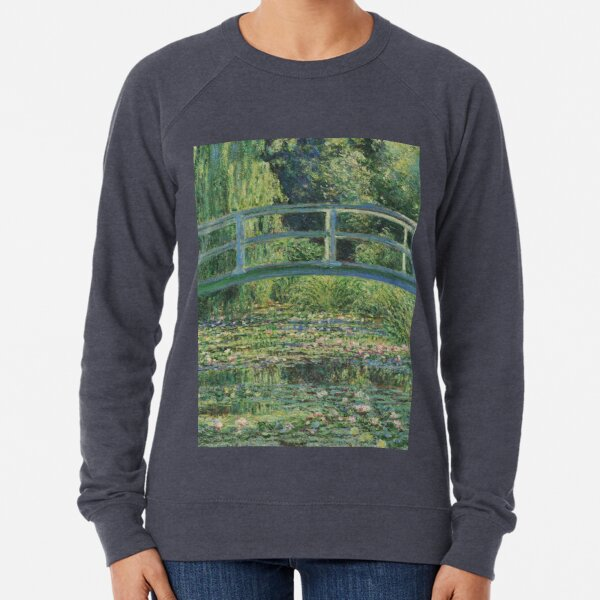 Claude Monet - The Water-Lily Pond Lightweight Sweatshirt