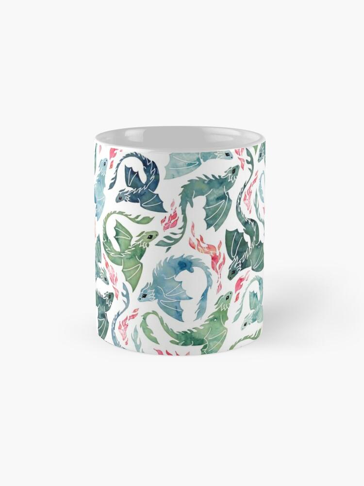 Alternate view of Dragon fire blue & green Mug