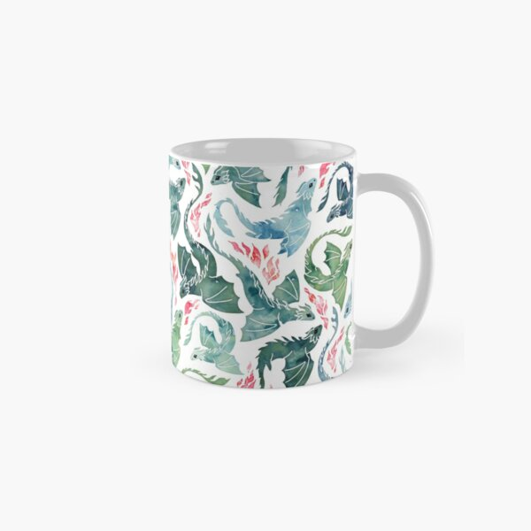 Dragon fire blue & green Classic Mug