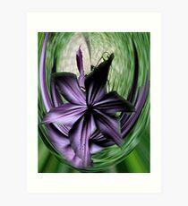 Purple Swoon Art Print