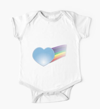 Glass Heart with Rainbow Kids Clothes