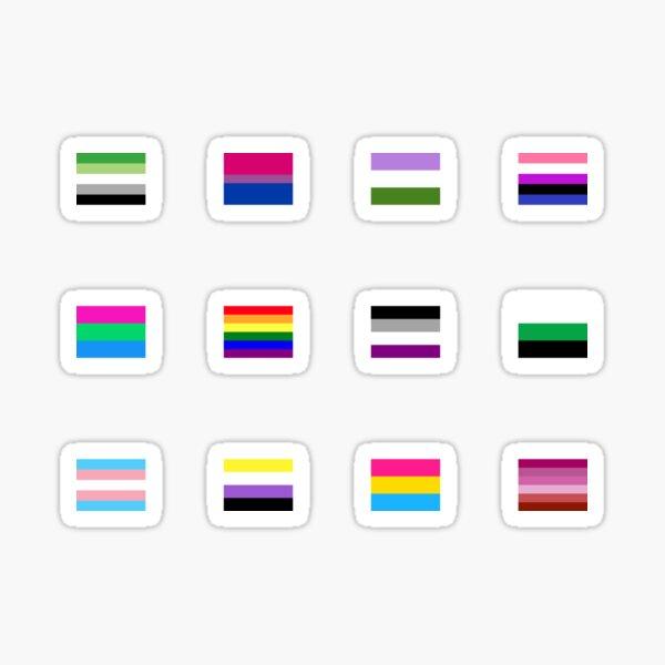 Pride Flag Mini Sticker Set Sticker