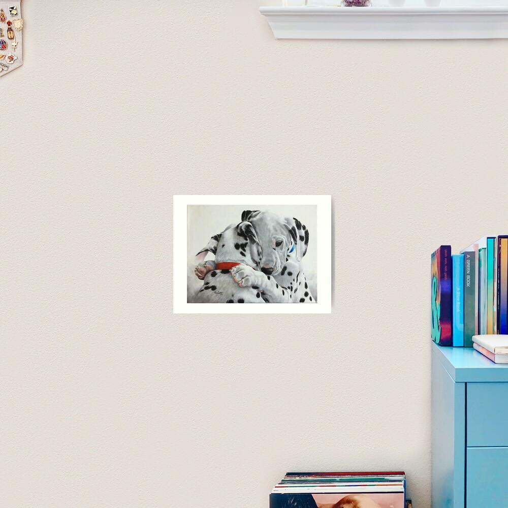 Dalmatian pups - Forever Friends. Art Print