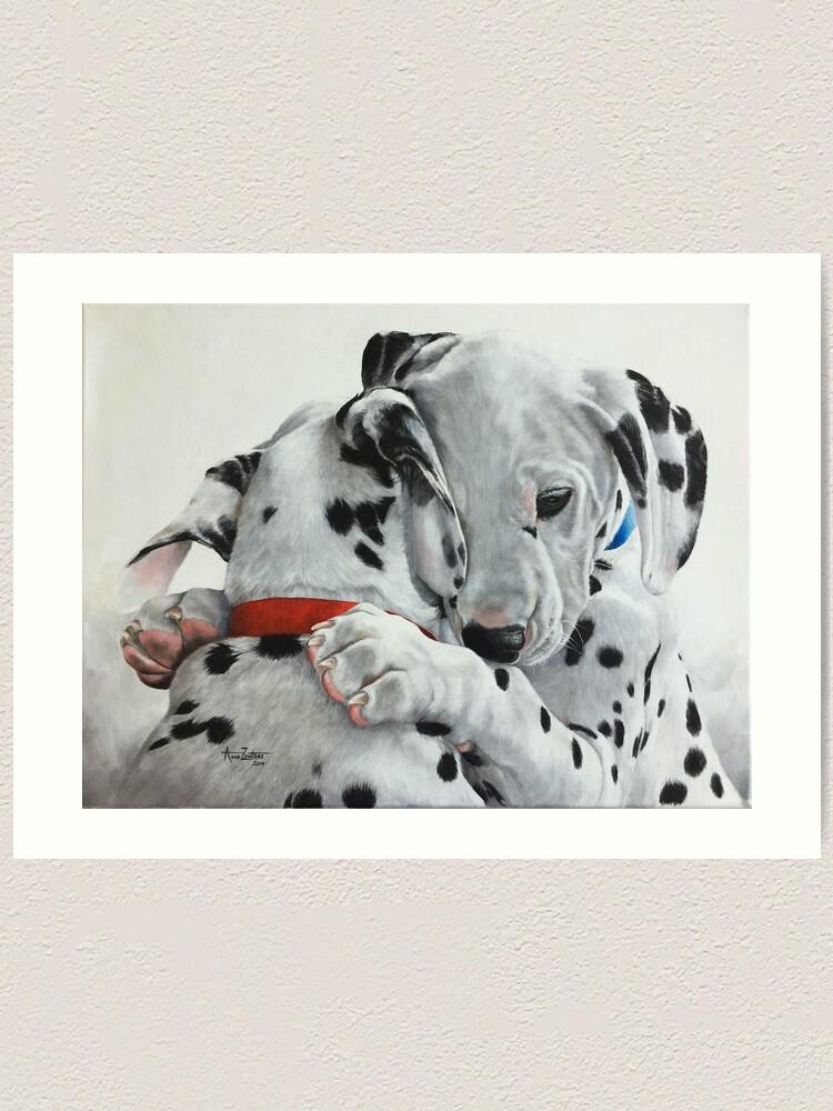 Alternate view of Dalmatian pups - Forever Friends. Art Print