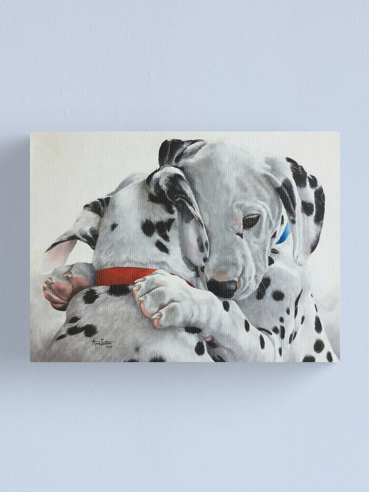 Alternate view of Dalmatian pups - Forever Friends. Canvas Print