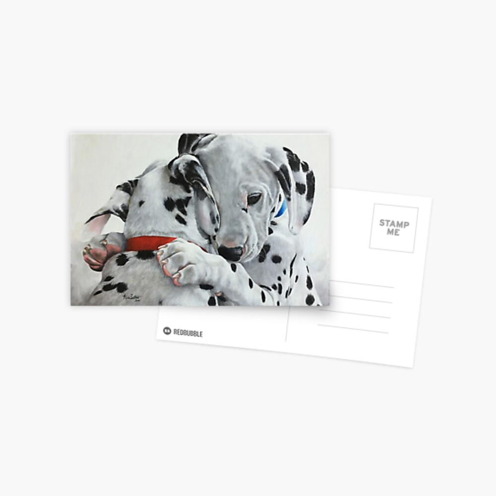 Dalmatian pups - Forever Friends. Postcard