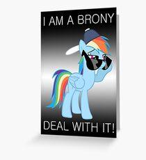 Rainbow Dash Brony Greeting Card