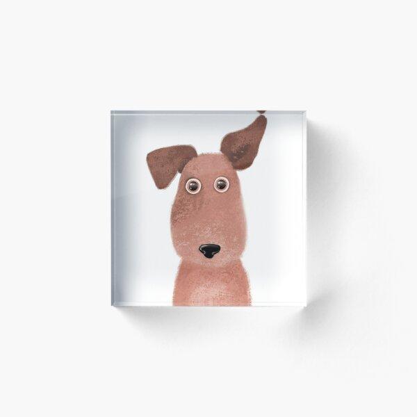 Handdrawn cute puppy Acrylic Block
