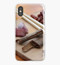Chinese Thai Cookery Ingredients and Chop Sticks iPhone Case/Skin