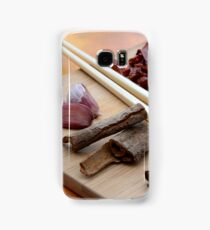 Chinese Thai Cookery Ingredients and Chop Sticks Samsung Galaxy Case/Skin