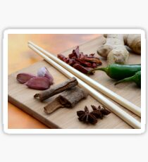Chinese Thai Cookery Ingredients and Chop Sticks Sticker