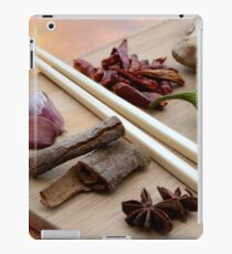 Chinese Thai Cookery Ingredients and Chop Sticks iPad Case/Skin