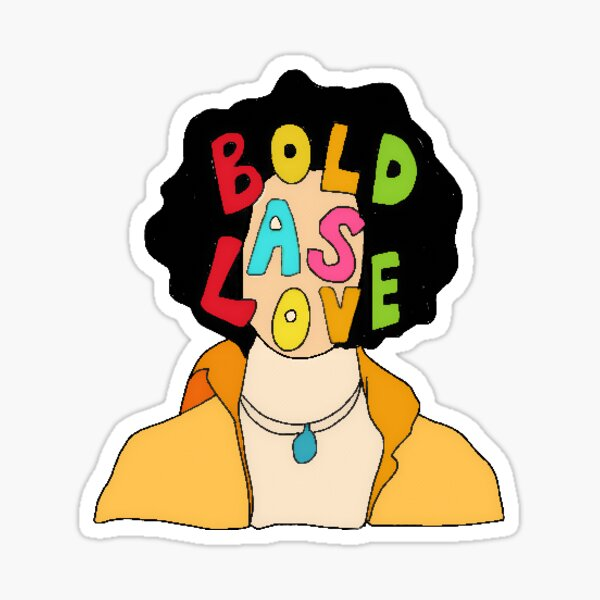 Jimi Hendrix - BOLD AS LOVE Sticker