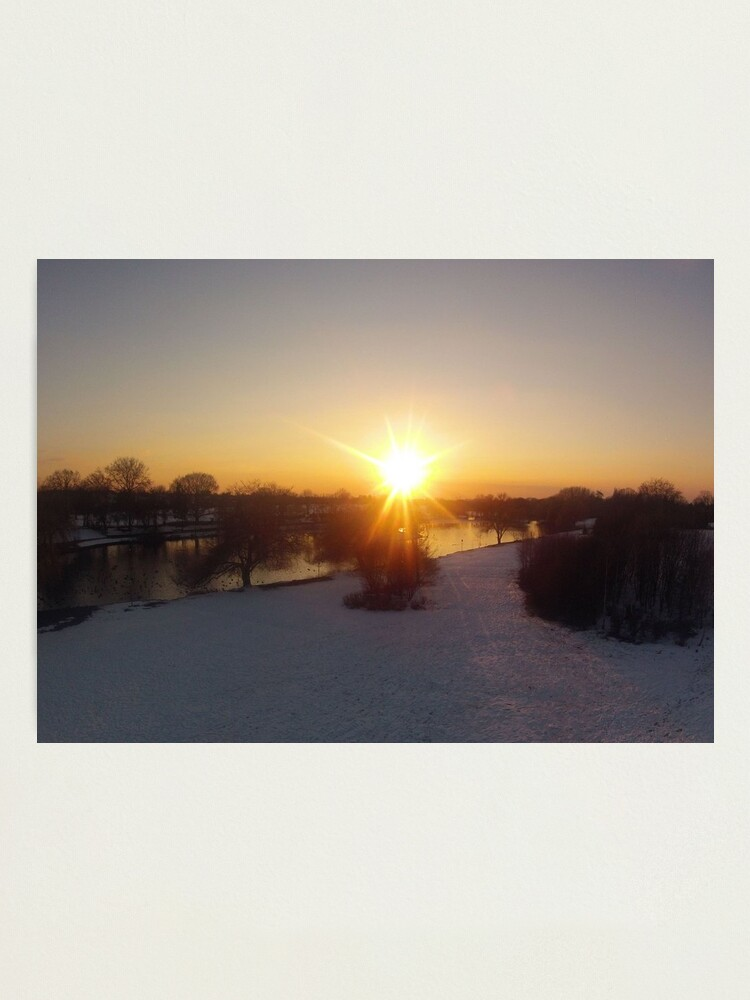 Alternate view of Snow Sunset Photographic Print